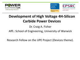 Development of 10 kV 4H-SiC MOSFET device. Potential Outcomes