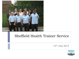 Sheffield Health Trainer Service