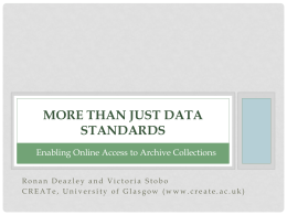 than just Data Standards