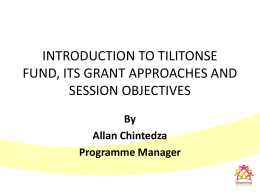 introduction to tilitonse revised