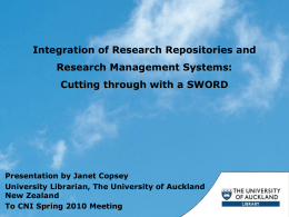 UoA Library – core systems
