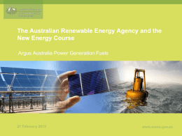 PPTX 962KB - Australian Renewable Energy Agency