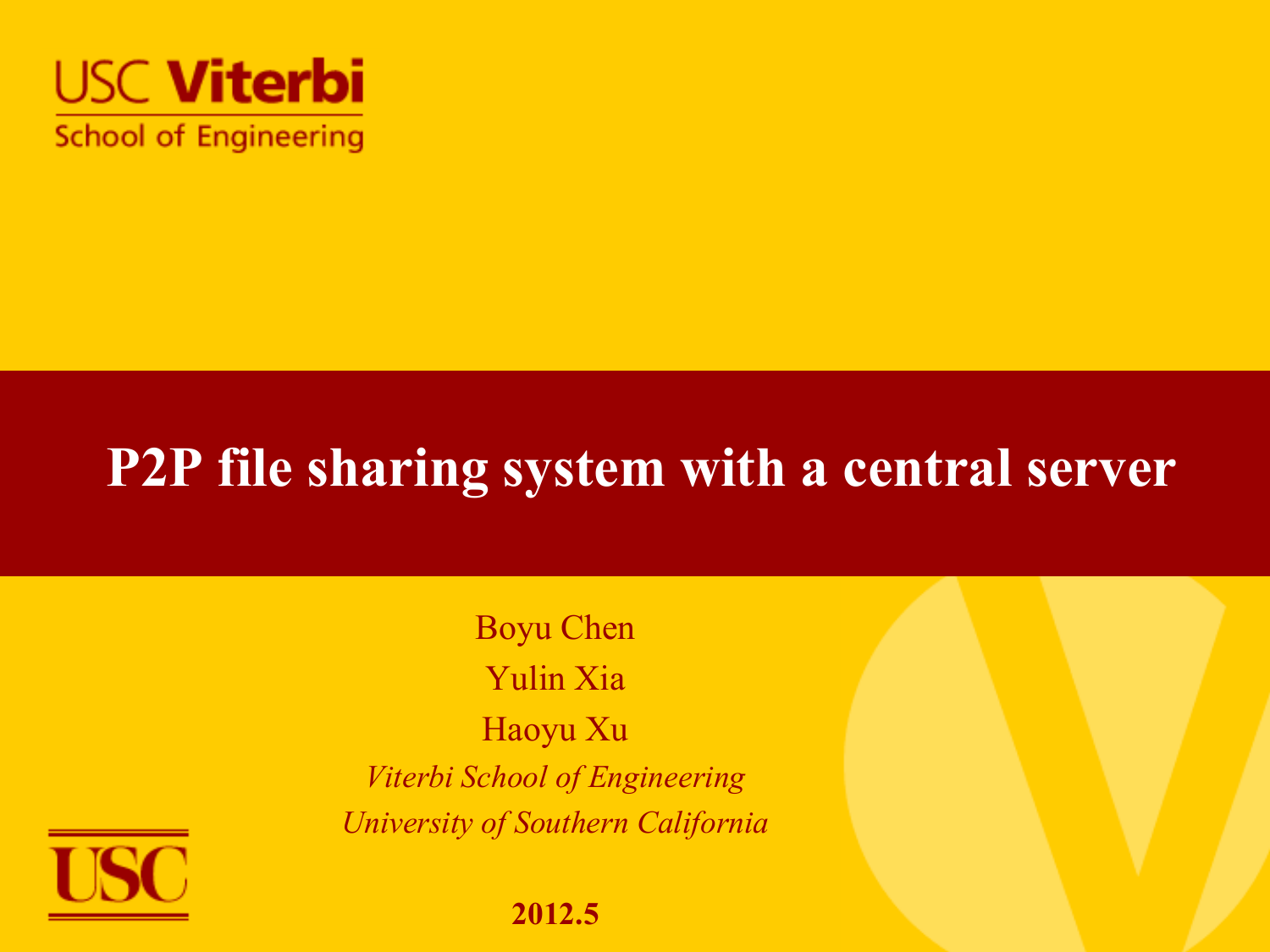 ppt slides for the final - University of Southern California