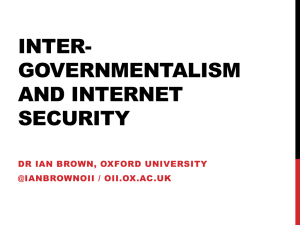 Inter-governmentalism and Internet security
