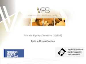Venture Capital and its Role in Diversification - FES