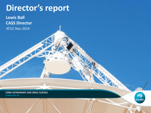 Director`s update - Australia Telescope National Facility