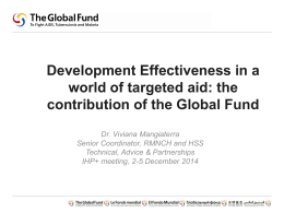 Global Fund presentation - International Health Partnership