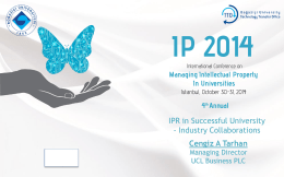 UCL - IP Conference 2014