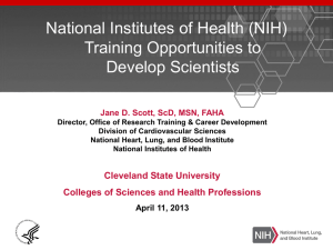 NIH Training Opportunities to Develop Scientists