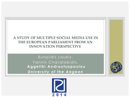 A Study of Multiple Social Media Use in the European