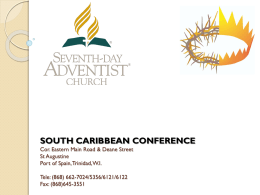 A guide to informed Giving. - South Caribbean Conference