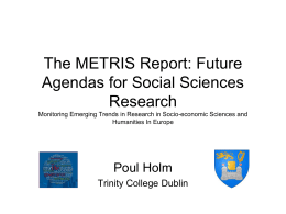 emerging trends in socio-economic sciences and humanities in