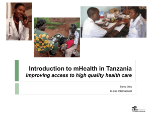Tanzania mHealth Vision Established