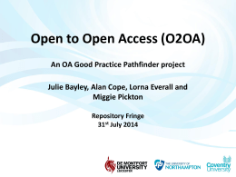 Presentation - Open Access Good Practice