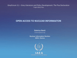 Open Access to Nuclear Information