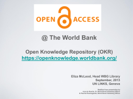 Open Knowledge Repository (OKR)
