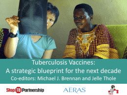 Tuberculosis Vaccines: A strategic blueprint for the