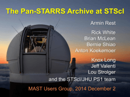 The Pan-STARRS Archive at STScI
