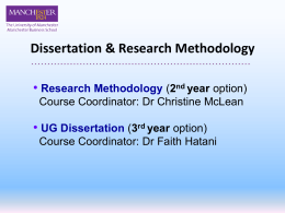 Dissertations / Research Methodology
