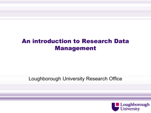 Research data management - Loughborough University