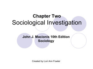John J. Macionis 9th Edition Sociology Chapter One The