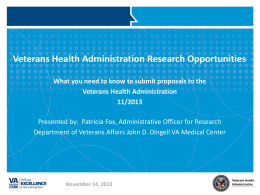 Doing Research with the Veterans Health Administration