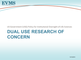 Dual Use Research of Concern
