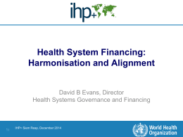 WHO presentation - International Health Partnership