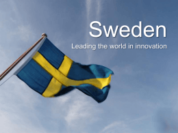 Sweden Leading the world in innovation