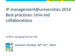 VIB Bioincubator - IP Conference 2014
