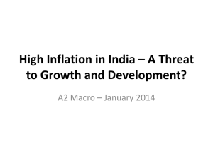 High Inflation in India – A Threat to Growth and