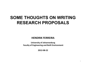 some thoughts on writing research proposals