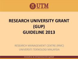 GUP2013-guideline (as an important reference) - K
