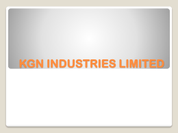 KGN INDUSTRIES LIMITED