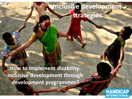 Inclusive development strategies