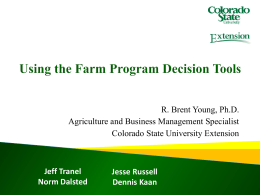 Using Farm Program Decision Tools