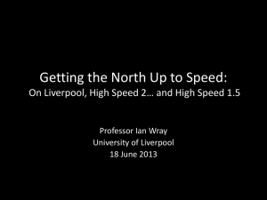 Getting the North Up to Speed - Ian Wray