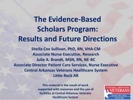 The Evidence-Based Scholars Program