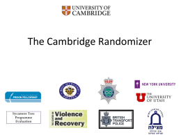 EBPC IV 2011 - The Cambridge Randomizer
