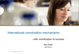 Coordination mechanisms for international research collaboration