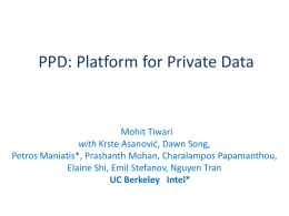 Platform for Private Data