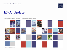 ESRC Update – Spring 2013 - Staffordshire University Blogs