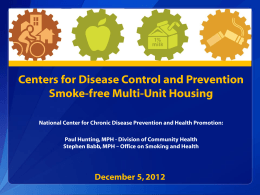 Division of Community Health - National Center for Health in Public