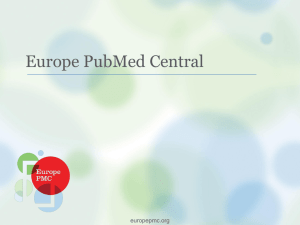 Presentation - Europe PubMed Central