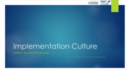 Implementation Culture