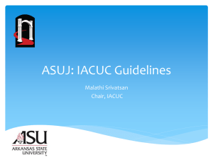 ASU: Following IACUC Guidelines