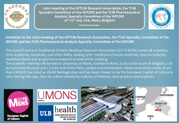The 4rth Annual Meeting of GP-TCM Research Association July