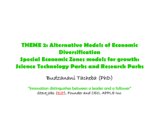 Alternative Models of Economic Diversification - FES