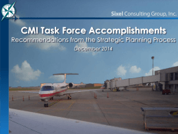 CMI Task Force Accomplishments