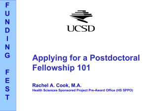 Fellowship 101 Presentation - Postdoctoral & Visiting Scholar Affairs